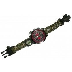 C-3289 Часы наручные +компас, свисток, стропорез