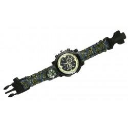 C-3291 Часы наручные +компас, свисток, стропорез