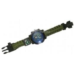 C-3292 Часы наручные +компас, свисток, стропорез
