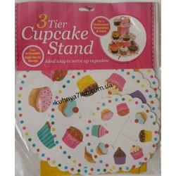 C-2189 Подставка Кексы под пирожные/кексы, 3 уровня