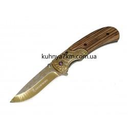 C-1095 Нож раскладной Browning A60, золото+дерево