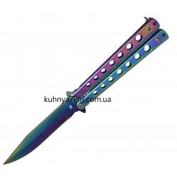 SF-2-262 Нож Бабочка, хамелеон дырочки