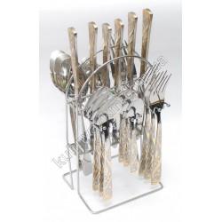 C-1217 Набор по 6 шт.: ложка, вилка, нож, чайная ложка