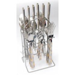 C-1262 Набор по 6 шт.: ложка, вилка, нож, чайная ложка