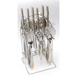 C-1256 Набор по 6 шт.: ложка, вилка, нож, чайная ложка