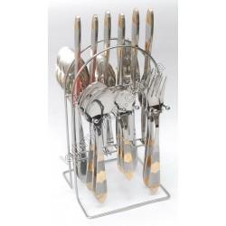 C-1257 Набор по 6 шт.: ложка, вилка, нож, чайная ложка