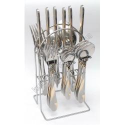 C-1265 Набор по 6 шт.: ложка, вилка, нож, чайная ложка