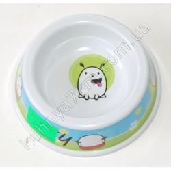 C-1554 Тарелка для собак меламин (можно ставить в микроволновку)