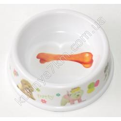 C-1552 Тарелка для собак меламин (можно ставить в микроволновку)